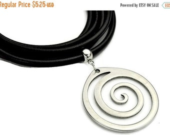 25% Off Spiral Necklace/Pendant - Antique Silver - Highe Quality Metal Casting - Qty. 1