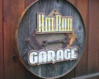 Retro Style Hot Rod Garage Sign