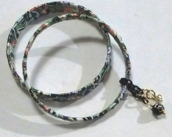 Set of three paper mache bangle gift set Japanese paper with charms