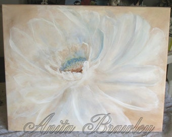 Large Original Flower Painting – shipping included in the price