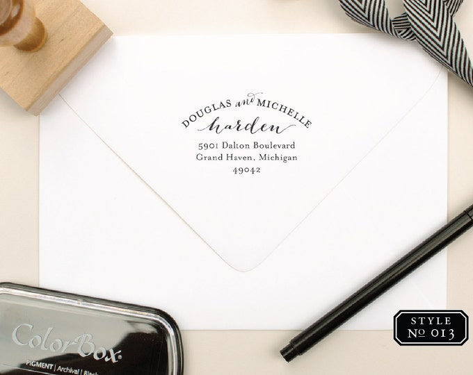Return Address Stamps for Thank You Cards, Newlywed Gift, Personalized Gift, Custom Address Stamp for Thank Yous