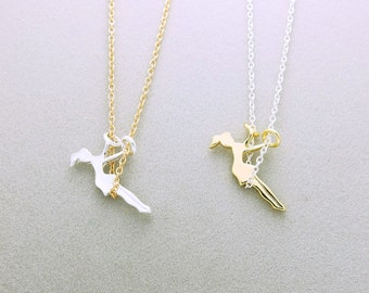 Swing woman necklace