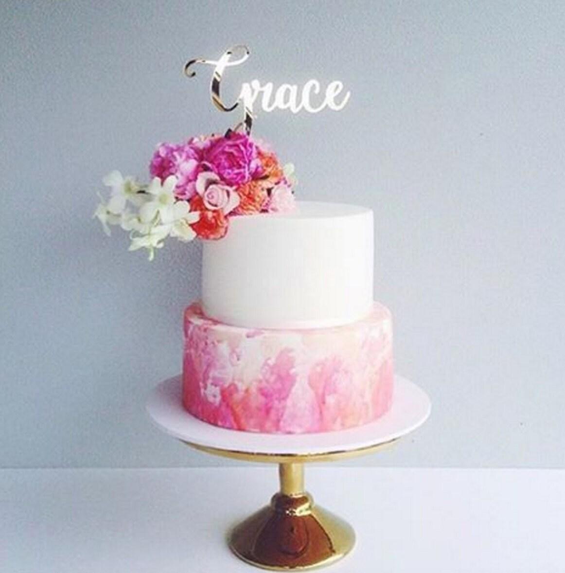 Christening cake toppertimber cake topper cake
