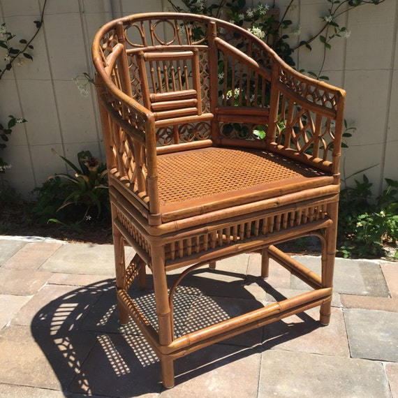 Vintage Thomasville Brighton Style Bamboo Rattan Chair