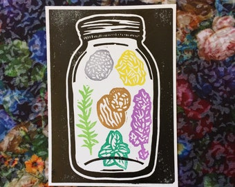 Letting Go/ANTI-ANXIETY Witch Jar Print (With or Without Baggie of Herbs option)