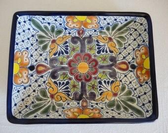 Talavera Ceramic Serving Tray / Serving Platter - Multicolor / Lead Free / Tabletop / Serving Platter