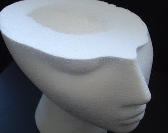 "Five (5) #800XUFOTT 8""H ZOMBIE VICTIM / Halloween Trick-R-Treat / Party HEAD Bowls"