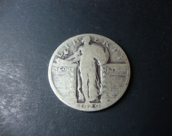 SALE - 1929 United States Standing Liberty Quarter - 90% Silver -Twenty-Five Cents -U.S. Coin -Precious Metal Coin -25 Cents - .65 Cent Ship