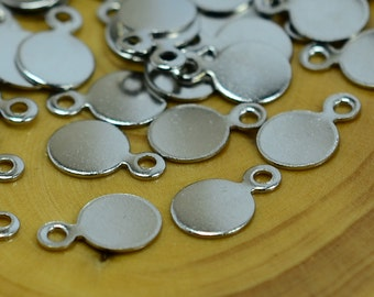 250 Pcs. Silver Tone 6mm Round Stamping Disc Findings