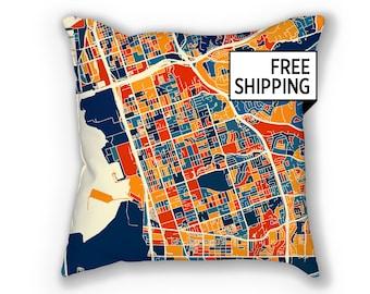 Chula Vista Map Pillow - California Map Pillow 18x18