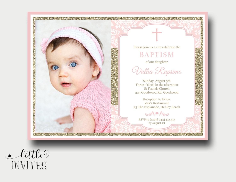 baptism invitations for girls