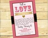 Valentine's Event Invite, Rodan + Fields Glitter and Polka Dot Design - DIGITAL FILE