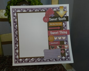 Sweet Tooth - One Page Scrapbook Layout