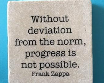 frank zappa quote smart quote decorative marble tile quote coaster home decor kitchen decor
