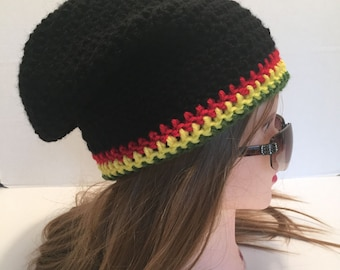 """Crochet Slouch Hat, """"Grace and Frankie"""" style, One Size Fits Most"""
