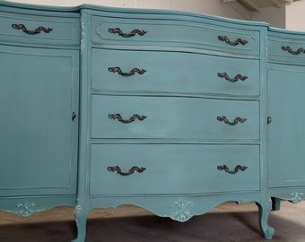 SOLD - - Antique French provincial buffet sideboard dresser