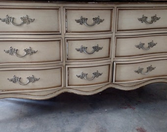 Pick your color - - Vintage French Provincial dresser with nightstand