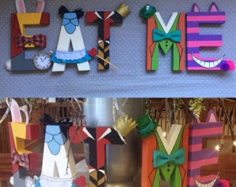 Alice in Wonderland Decorated letters