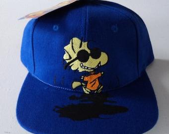 Vintage Peanuts Woodstock Deadstock Snapback Hat VTG