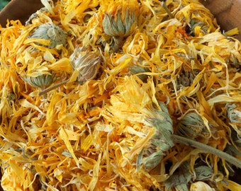 2lbs Organic Dried CALENDULA Flowers Whole Medicinal Herb Tea, Biodegradable Ecofriendly Bulk Soap Supplies Additives Bath Remedy 910g