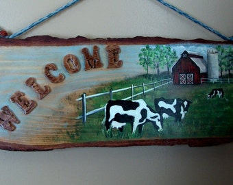 Rustic Dairy Farm Sign Made to Order