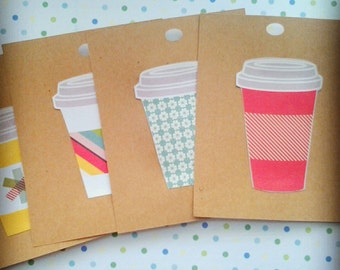 Paper Coffee Cups Tags