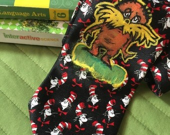 Lorax Dr Seuss Cat in The Hat Necktie School Teacher