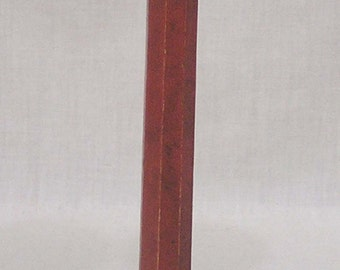 Vintage Wood Hat Stand Brick Red Paint Four Footed