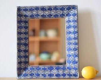 Marianne Starck for Michael Andersen & Son - big mirror - no 6068/2 - Persia glaze - Danish midcentury pottery