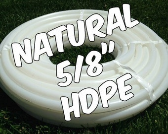 "5/8"" HDPE hula hoop tubing roll - Make your own hoops!  Comes with insert material 50 ft or 100 ft"
