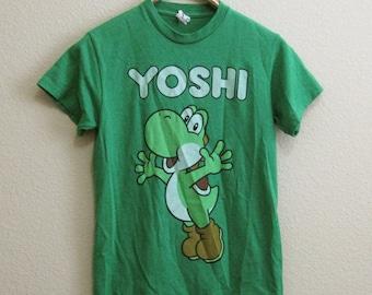 Green Yoshi Nintendo T-shirt Small Dinosaur Video Game