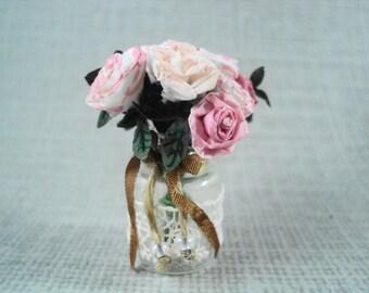 Dollhouse - Miniature - Jar with roses