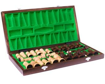 Wooden chess set, Boyfriend gift, Wood chess set, Mens gift, Husband gift, Wooden chess board, Chess set wood