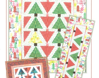 Pattern - Lone Pine Quilt, Wallhanging or Table Runner Pattern by Quilt Queen Designs (QQDXB-LP)