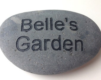 Garden Stone Custom Engraved with your Name, Words or Sayings