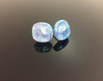 Dichroic Fused Glass Earrings Studs #15