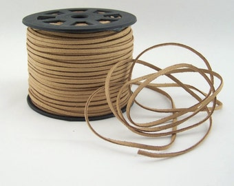 Light Brown Faux Suede Cord 20 Feet USA Seller