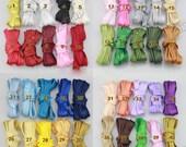 10Yards Satin bias tape lip cotton fabric Cord Edge Rope Ribbon upholstery Sewing piping trims