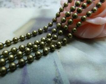 100 YD Brass Ball Chains 2.4mm Bead Chains A2230