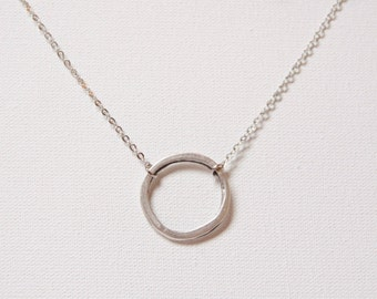 Good karma eternity circle ring minimalistic necklace