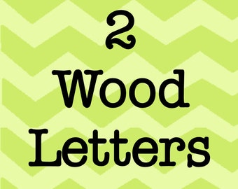 Larson Designs 2 Wood Letters with Ribbons