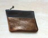 Mini zip purse / bronze grey mint for ALICE
