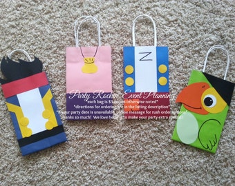 Jake & The Neverland Pirates Party Favor Gift/Goodie  Bags!