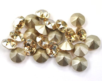 Swarovski 39ss 1088 Golden Shadow Xirius Chatons 8mm Crystal 12 Pieces