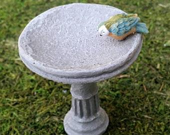 U-Pick Miniature Fairy Garden Birdbath - Your Choice of Miniature Bird, Fairy Garden Accessories, Dollhouse Miniature Supplies Bird Bath
