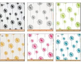 Tab Top Curtain Panels, Dandelion Window Treatment, Set Of Two.