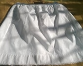 Victorian Petticoat White Half Slip Lace Trim Handmade French Cotton Skirt Clothing for Costumes Movies Plays