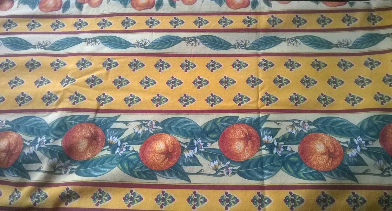 Yellow Provence Fabric 2 Yards Vintage Home Decor Unused