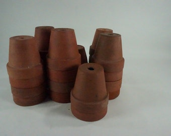 "Terracotta Planters, Seedling Pots, Flowerpot, Clay Seed Pots, Growing Seedlings, Greenhouse Supplies, 3 1/4"" H Starting Seeds, SOLD PER PC"
