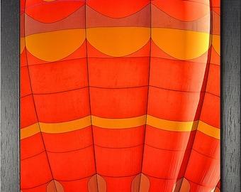 Fine Art wall print of colorful hot air balloon photograph